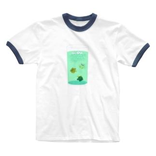 ポメソーダ・C Ringer T-shirts