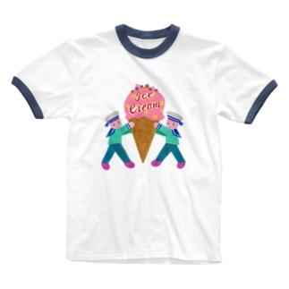 アイスクリームの均衡 Ringer T-shirts
