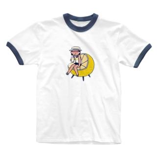 夏みかんのジュース Ringer T-shirts