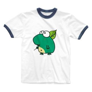 あまがえる Ringer T-shirts