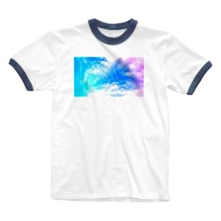 六芒星スカイ Ringer T-Shirt