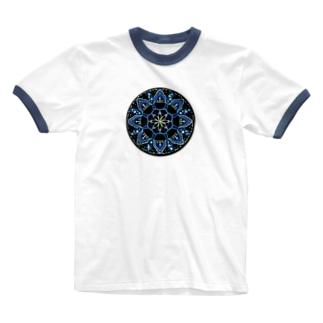 薄氷−丸ver. Ringer T-shirts