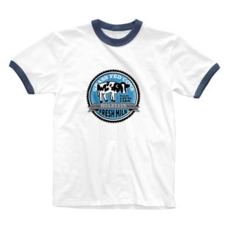 FRESH MILK フレッシュミルク Ringer T-Shirt