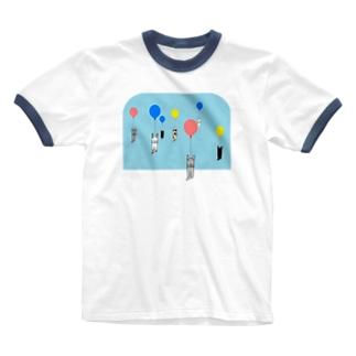 ベタですみません。風船 Ringer T-shirts