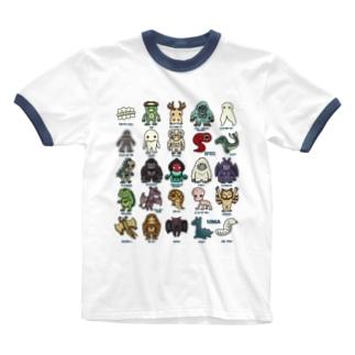 2.5等身 UMA図鑑 Ringer T-Shirt