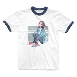 La Baleine / ラ・バレーヌの(水) うお座xCONVERSE Ringer T-shirts
