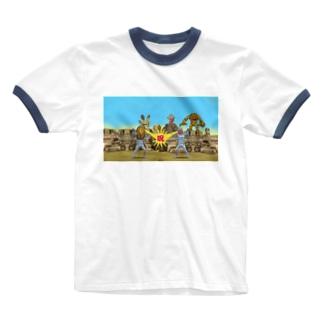 エジプトパニック! Ringer T-shirts