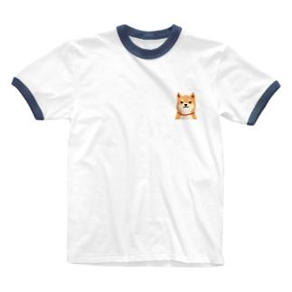 いつもいっしょ(赤柴) Ringer T-shirts