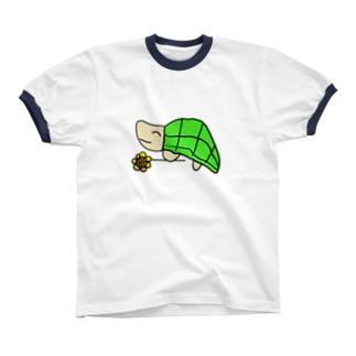 かめさん リンガーTシャツ