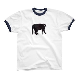 くろねこさん リンガーTシャツ