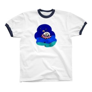 ふらふら宇宙 リンガーTシャツ