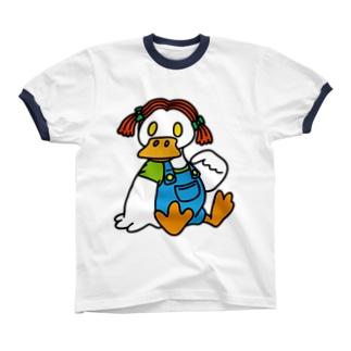 C.B.Duck【GIRL】 リンガーTシャツ