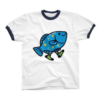Walking Fish リンガーTシャツ