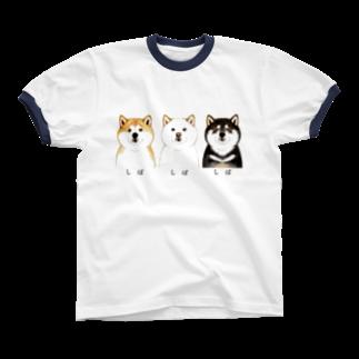 wankorosobaのしばしばしばTシャツ リンガーTシャツ