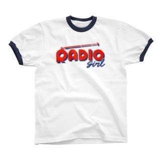 RADIO girl リンガーTシャツ