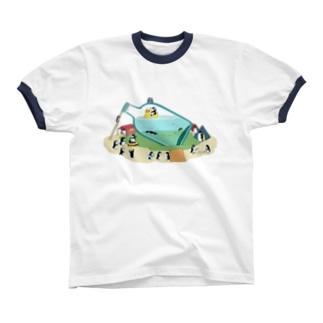 ペンギンボトル18 リンガーTシャツ
