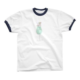 メロンソダ子ちゃん リンガーTシャツ