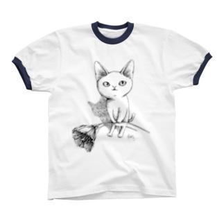 シロネコ宅急便 リンガーTシャツ