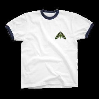 退化現象 硯出張所の夾竹桃雀 Ringer T-shirts