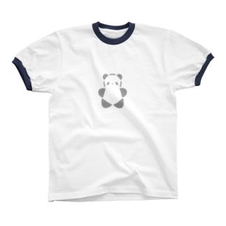 SIROPANDAワンポイント(大)(Gray) Ringer T-shirts