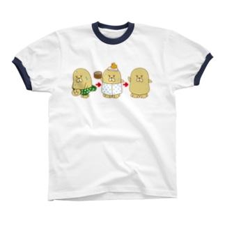 おふろでスッキリおじゃもんくん リンガーTシャツ