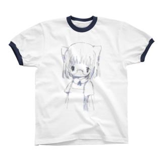 白い リンガーTシャツ