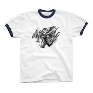 SHISHIN リンガーTシャツ
