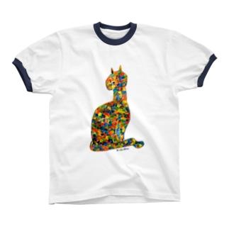 サビ猫 リンガーTシャツ