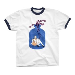 Alice in bottle freesia リンガーTシャツ