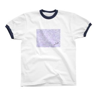 Rose pattern (Elegant) Ringer T-shirts