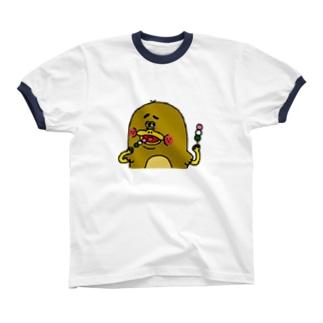 カモノハシのモカちゃん Ringer T-shirts
