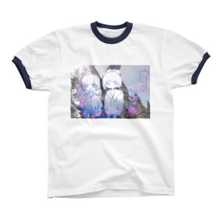 さむかった Ringer T-shirts