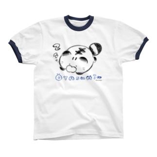 おやすみちーくん Ringer T-shirts