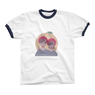 さくらんぼ兄妹 Ringer T-shirts