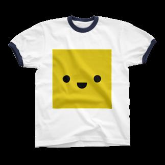 shimojuのきいろいやつ リンガーTシャツ