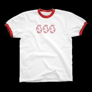 nsnの3(RED) リンガーTシャツ