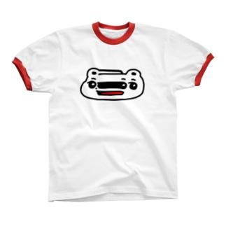 くまめ ワープする Ringer T-shirts
