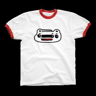 平行のくまめ ワープする リンガーTシャツ