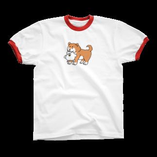 mugny shopのGOOD BOYリンガーTシャツ