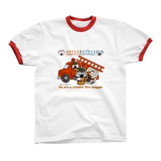 コカちゃんとペプチくん(cocakoala & peptikoala) Ringer T-shirts