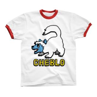 白いの リンガーTシャツ