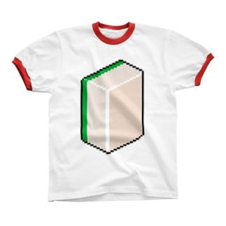 白 リンガーTシャツ