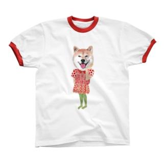 しばいぬ Ringer T-shirts