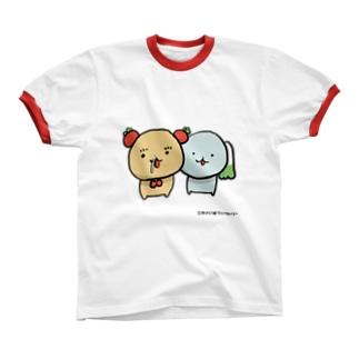 はくとま【はなみずたらーん】 リンガーTシャツ
