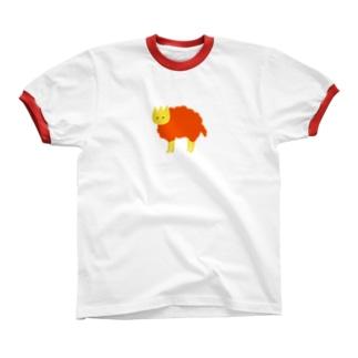 見ている orange リンガーTシャツ