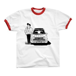 ナルシスとくるま Ringer T-shirts
