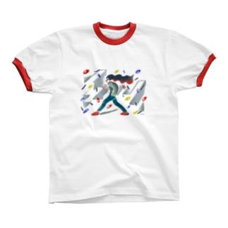 Chika Chika Shaka Shaka リンガーTシャツ