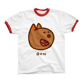 にっこりボンくん(カラー) リンガーTシャツ