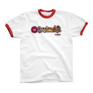 オクマーロゴ Ringer T-shirts