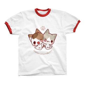 みけ&ぽち Ringer T-shirts